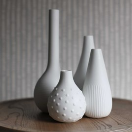 Porcelain Engraved Flower Vases