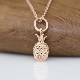 Rose Gold Pineapple Pendant