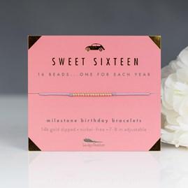 'Sweet Sixteen' Milestone Birthday Bracelet