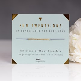 'Fun Twenty One' Milestone Birthday Bracelet