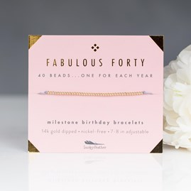 'Fabulous Forty' Milestone Birthday Bracelet