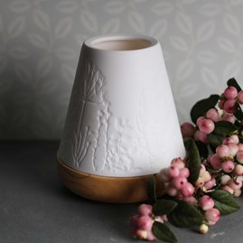 Porcelain Tea Light Lantern With Flower Pattern