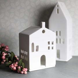 Porcelain Tea Light Holder House