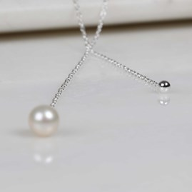 Double Drop Pearl And Bead Necklace