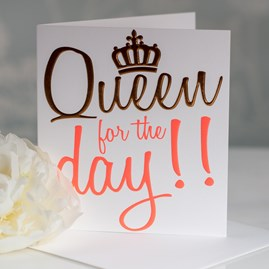 Caroline Gardner 'Queen For The Day' Greetings Card