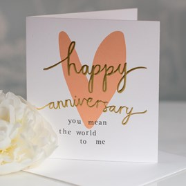 Caroline Gardner 'Happy Anniversary' Greetings Card