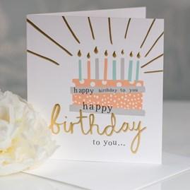 Caroline Gardner 'Happy Birthday To You' Cake Greetings Card