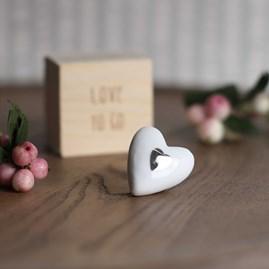 Porcelain Love To Go Heart