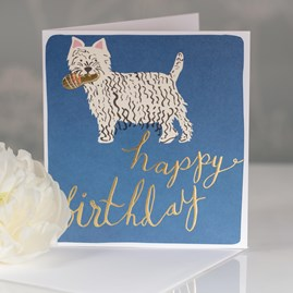 Caroline Gardner 'Happy Birthday' Dog Greetings Card