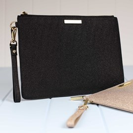Stunning Black Stardust Evening Clutch Bag