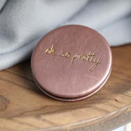 Katie Loxton Personalised 'Oh So Pretty' Rose Pink Compact Mirror