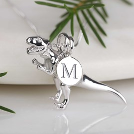 Personalised T Rex Necklace