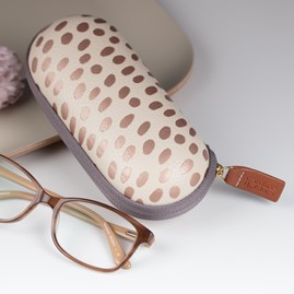 Caroline Gardner Metallic Dotty Glasses Case