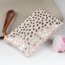 Caroline Gardner Metallic Dotty Essential Purse