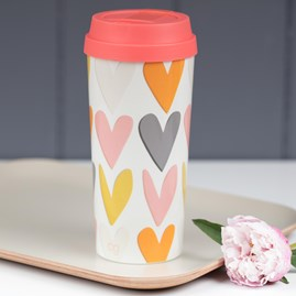 Caroline Gardner Hearts Layered Travel Mug
