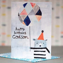'Happy Birthday Godson' Greetings Card