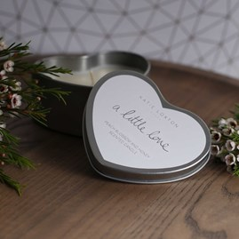 'A Little Love' Heart Tin Candle