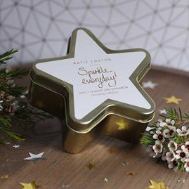 'Sparkle Everyday' Gold Star Tin Candle