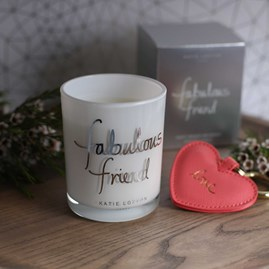 'Fabulous Friend' Written Word Candle