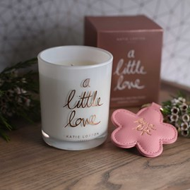'A Little love' Written Word Candle