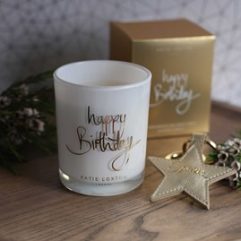 'Happy Birthday' Written Word Candle
