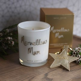 'Marvellous Mum' Written Word Candle