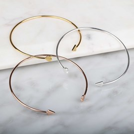 Cupid Bangle In Solid Silver, Gold Or Rose Gold