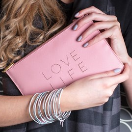 'Love Life' Pale Pink Perfect Pouch