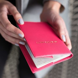 Katie Loxton Personalised 'Adventure Awaits' Passport Travel Holder