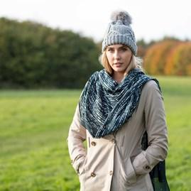 Katie Loxton 'Stardust' Dark Teal Scarf