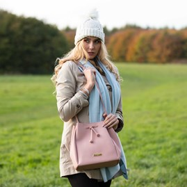 Chloe Handbag In Soft Grey Or Blush Pink