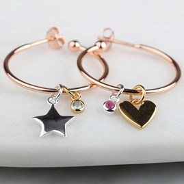 Personalised Story Hoop Earrings