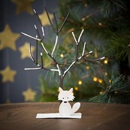 Snowy Fox And Tree Decoration