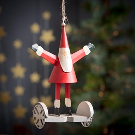 Santa On His Hoverboard Decoration