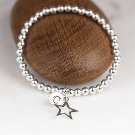 Personalised Children's Silver Star Bracelet