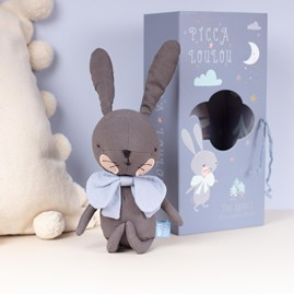 Grey Rabbit Cuddly Toy In A Gift Box