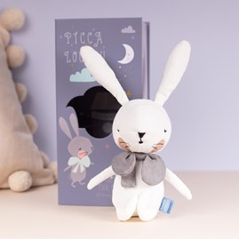 White Rabbit Cuddly Toy In A Gift Box