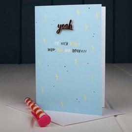 'Oh Heck Yeah! Woo, Yay And Hooray' Enamel Pin And Card