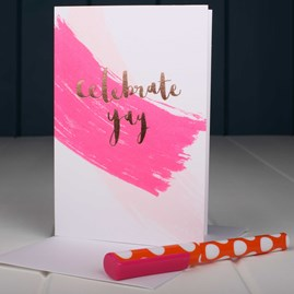 'Celebrate Yay' Greetings Card