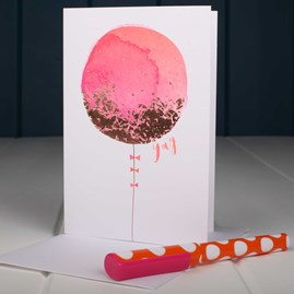 Big Pink Balloon Birthday Card