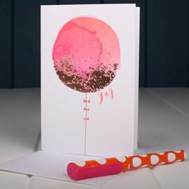 Big Pink Balloon Birthday Card