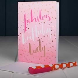 'Fabulous Birthday Lady' Birthday Card