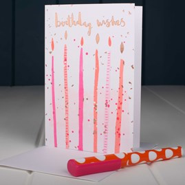 'Birthday Wishes' With Candles Birthday Card
