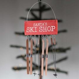 Santa's Ski Shop Christmas Decoration
