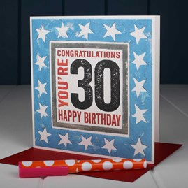 'Happy 30th' Birthday Card