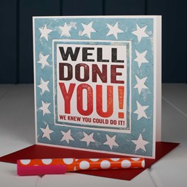 'Well Done' Greetings Card