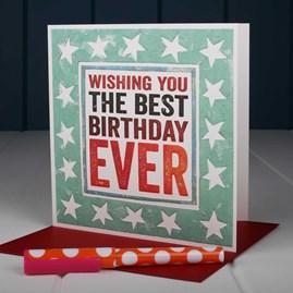 'Wishing You The Best Birthday Ever' Birthday Card