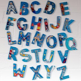 Wooden 'Adventure' Alphabet Letters