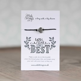 'You Are The Best' Heart Wish Bracelet