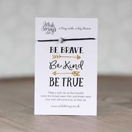 'Be Brave, Be Kind, Be True' Star Wish Bracelet
